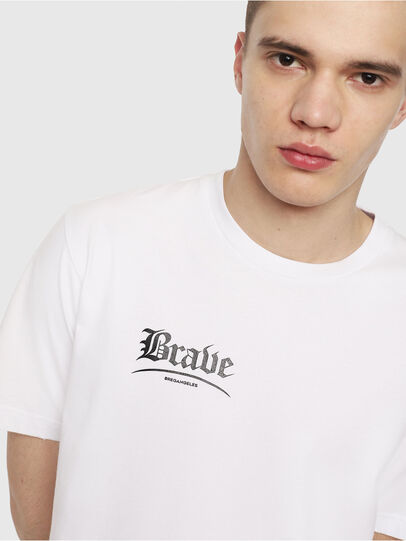 Diesel - T-JUST-Y14, White/Black - T-Shirts - Image 3