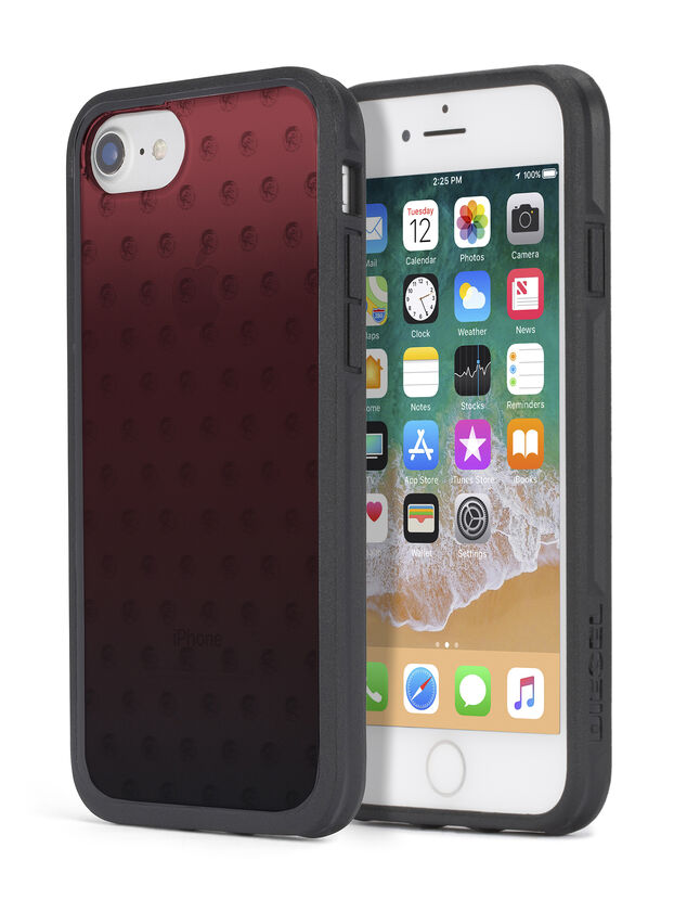 MOHICAN HEAD DOTS RED IPHONE X CASE, Rouge - Coques