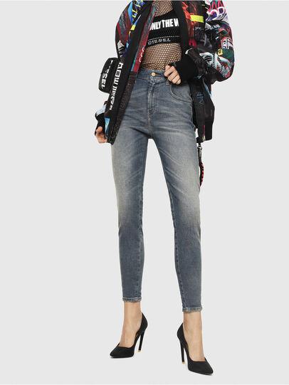 Diesel - Slandy High 085AZ, Bleu moyen - Jeans - Image 1