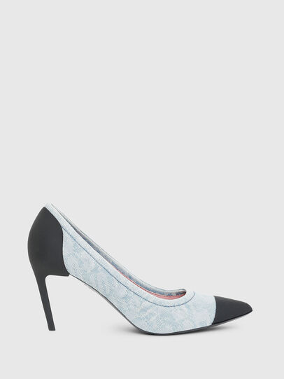 Diesel - D-SLANTY MHT, Bleu Clair - Chaussures À Talon - Image 1