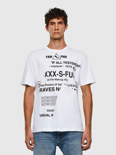 Diesel - T-JUST-FOLDED, White - T-Shirts - Image 6