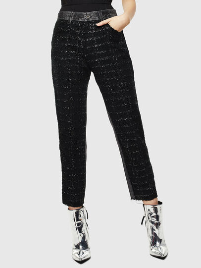 Diesel - P-GITTE-NEW, Black/Dark Grey - Pants - Image 1