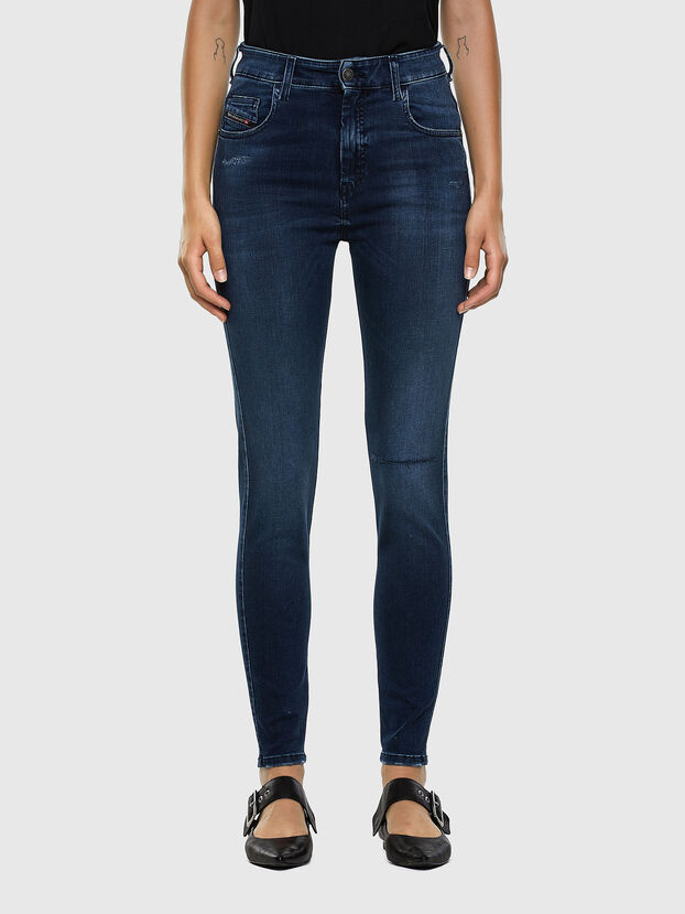 Slandy High 009LR, Bleu moyen - Jeans
