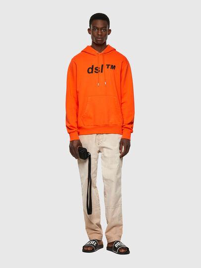 Diesel - S-GIRK-HOOD-B4, Orange - Pull Cotton - Image 4
