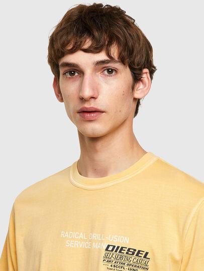 Diesel - T-JUBINDY-B1, Jaune - T-Shirts - Image 3