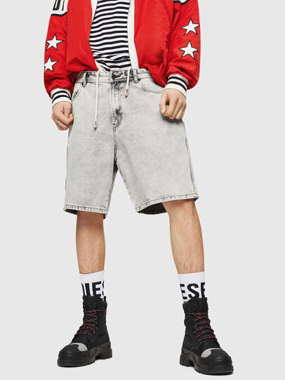 Diesel - D-WILLOH, Gris Clair - Shorts - Image 1