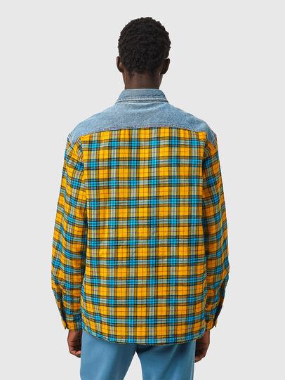 Diesel - S-BUN, Blue/Yellow - Shirts - Image 2