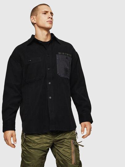 Diesel - S-LEBED, Noir - Chemises - Image 1