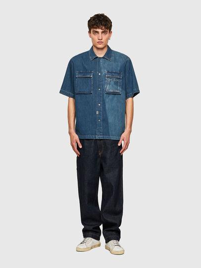Diesel - D-GUNN-SP, Medium Blue - Denim Shirts - Image 5