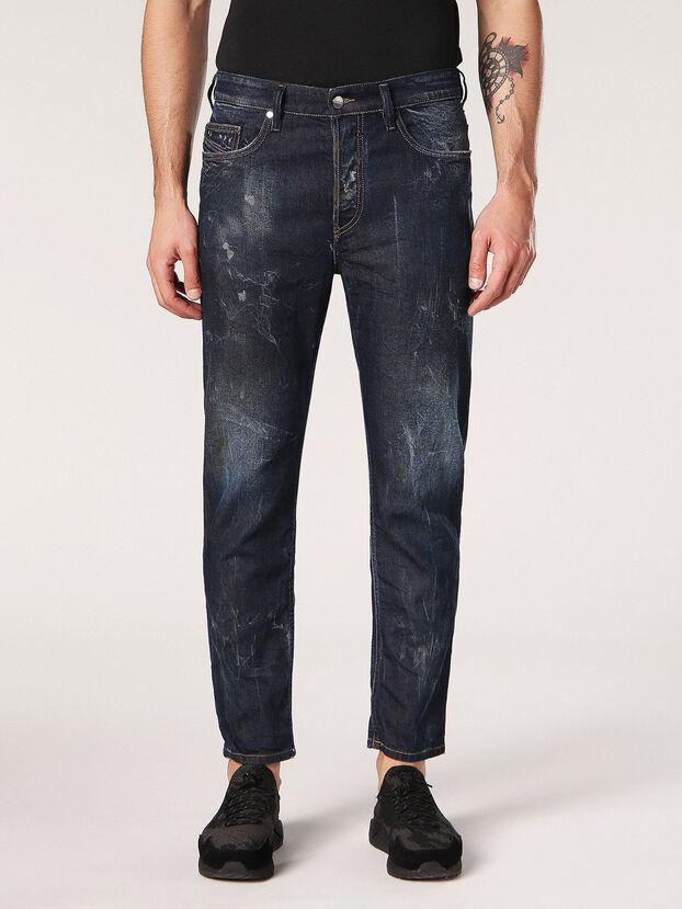 Jifer 084SW, Bleu Foncé - Jeans