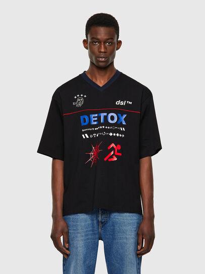 Diesel - T-DELPHIVY-SLITS, Noir - T-Shirts - Image 1