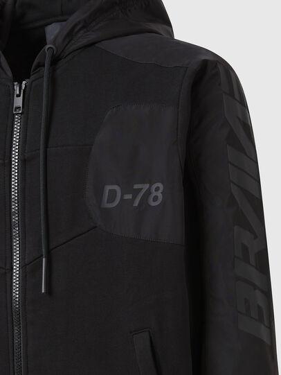 Diesel - S-JAKLER, Black - Sweatshirts - Image 4
