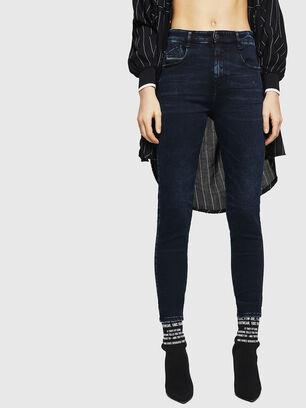 Slandy High 082AU, Bleu Foncé - Jeans