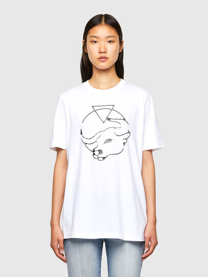 Diesel - CL-T-JUST-O, Blanc - T-Shirts - Image 2