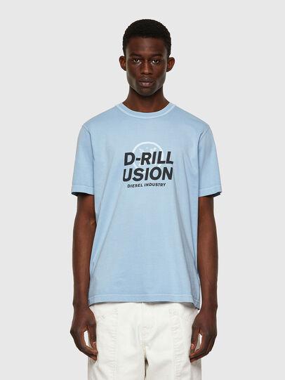Diesel - T-JUBINDY, Bleu Clair - T-Shirts - Image 1