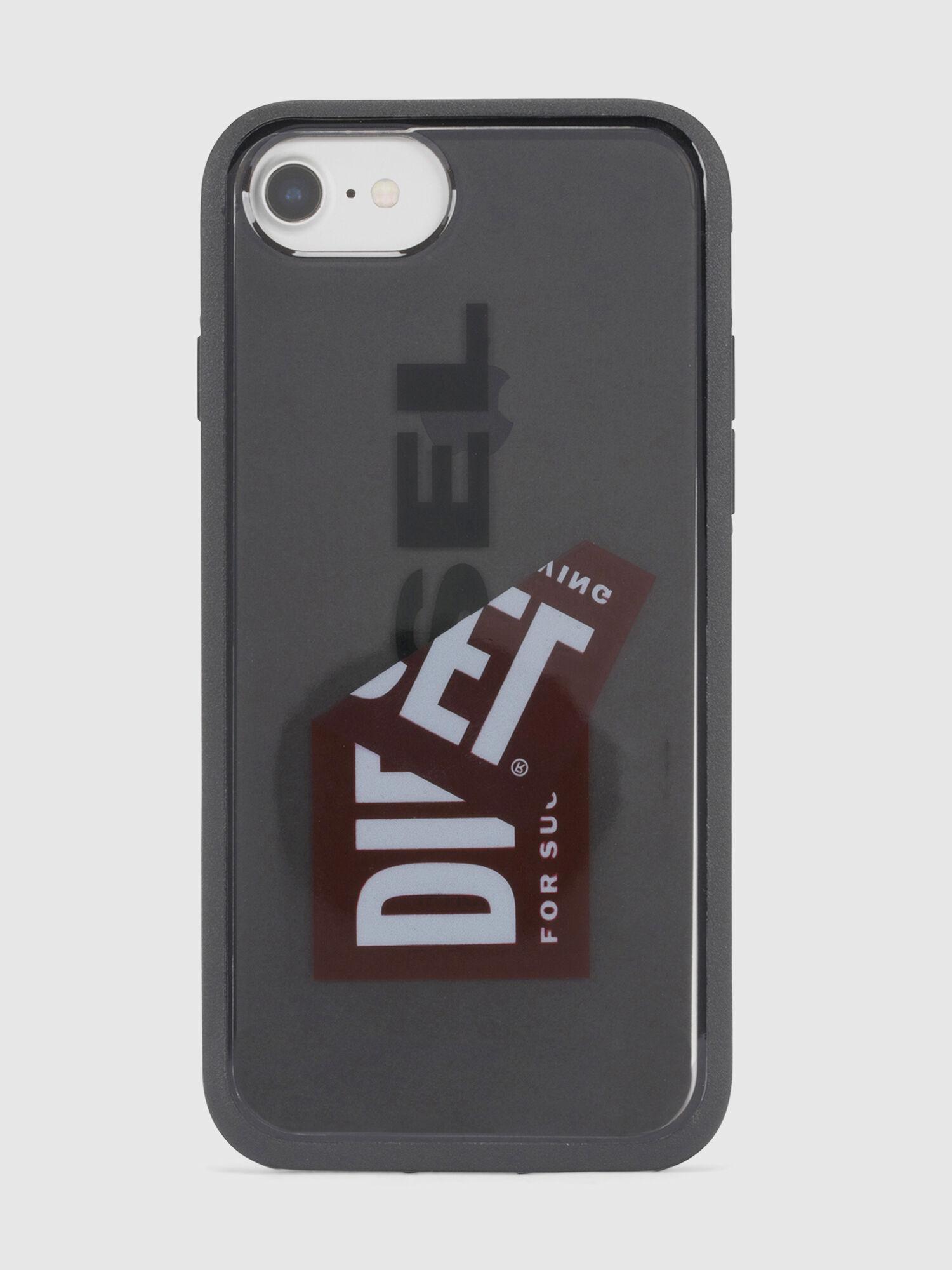 STICKER CASE: Coque en résine avec logo, iPhone 8/7/6s/6 | Diesel
