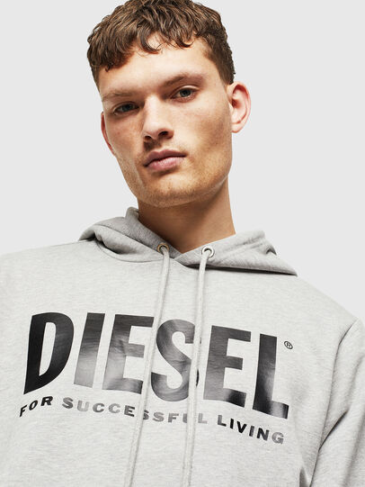 Diesel - S-GIR-HOOD-DIVISION-, Gris - Pull Cotton - Image 5