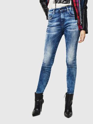 Slandy High 0096J, Bleu moyen - Jeans