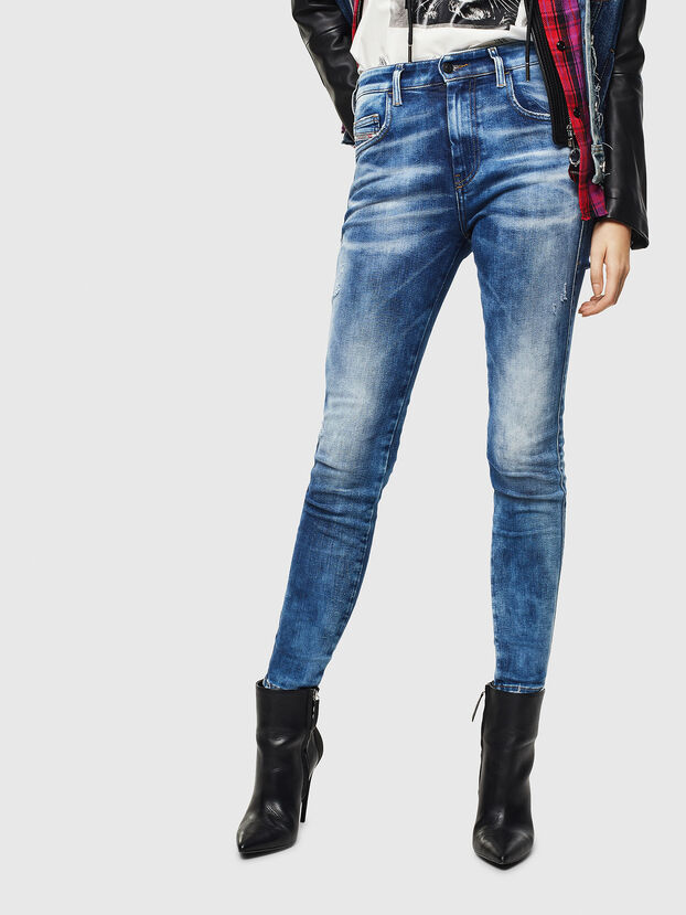 Slandy High 0096J, Bleu moyen - Jeans