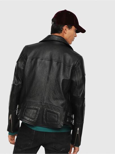 Diesel - L-KRAMPIS, Black Leather - Leather jackets - Image 2