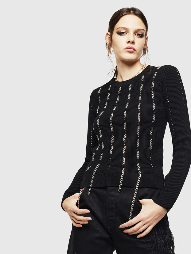 M-LYV, Noir - Pull Maille