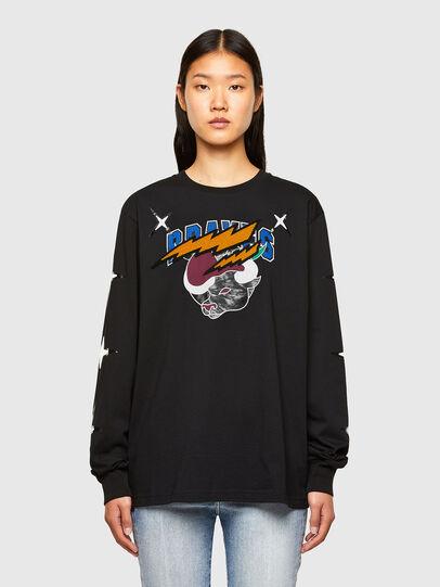 Diesel - CL-T-JUST-LS-O, Noir - T-Shirts - Image 2