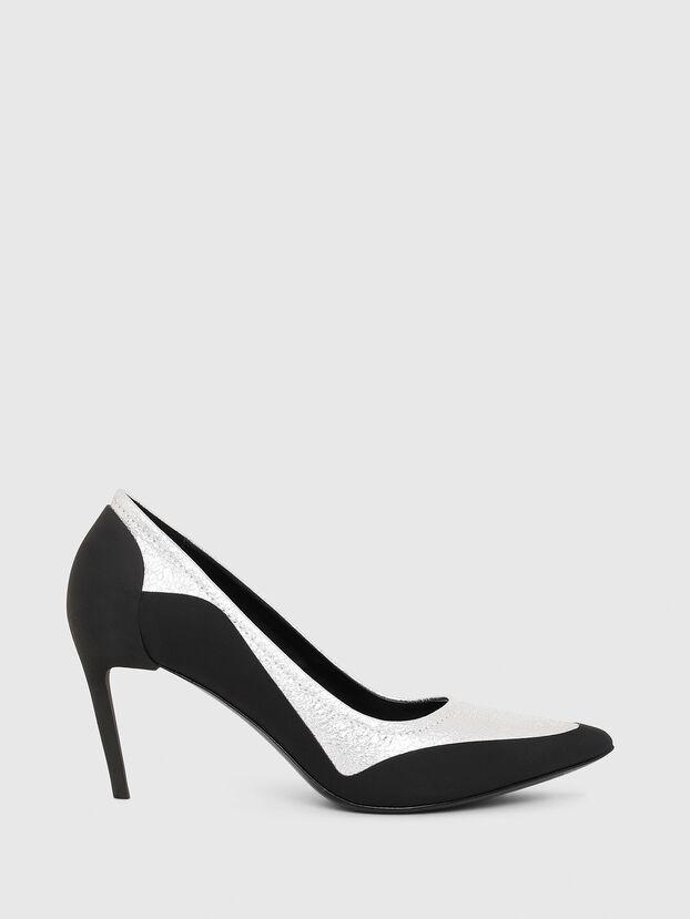 D-SLANTY MHB, Noir/Blanc - Chaussures À Talon