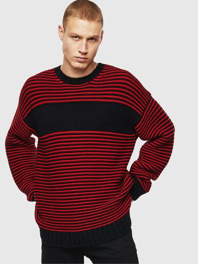 Diesel - K-BALLIS, Red/Black - Sweaters - Image 1