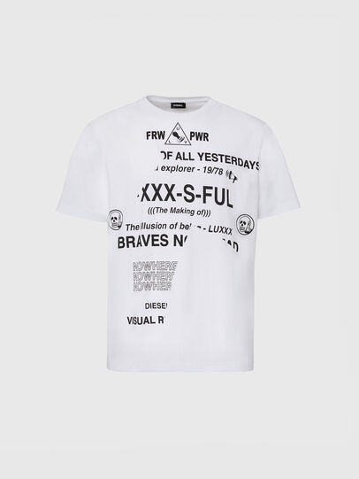 Diesel - T-JUST-FOLDED, Blanc - T-Shirts - Image 1