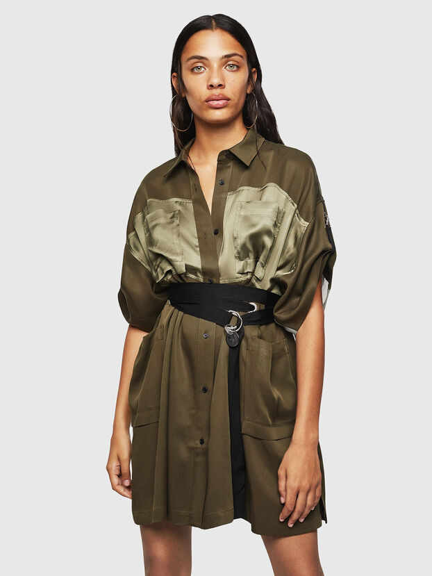 D-TIEP, Military Green - Dresses