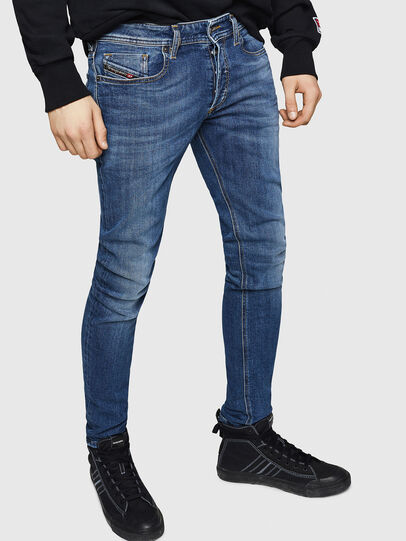 Diesel - Sleenker 069FZ, Bleu moyen - Jeans - Image 1