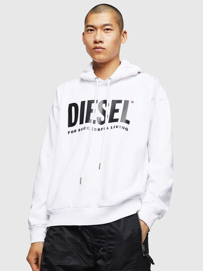 Diesel - S-DIVISION-LOGO, Blanc - Pull Cotton - Image 1