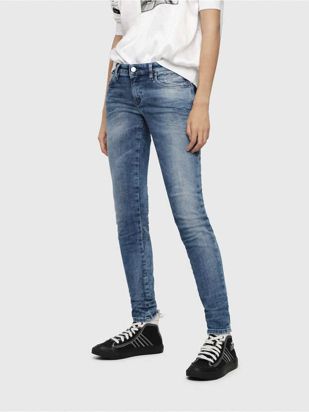 Gracey JoggJeans 080AS, Bleu moyen - Jeans