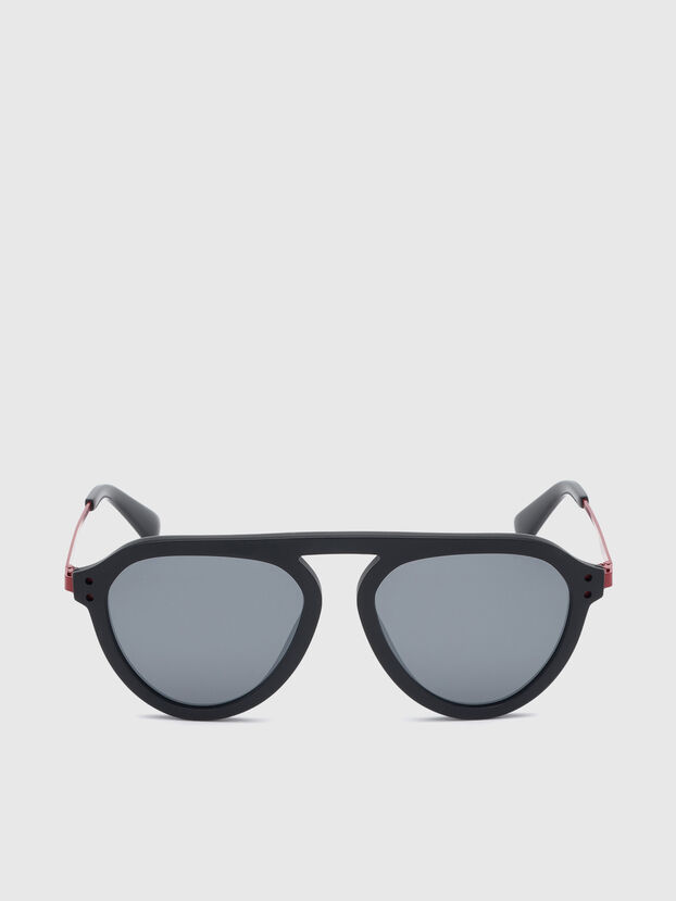 DL0277, Black/Red - Sunglasses