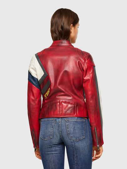 Diesel - L-POLLY, Rouge - Vestes de cuir - Image 2