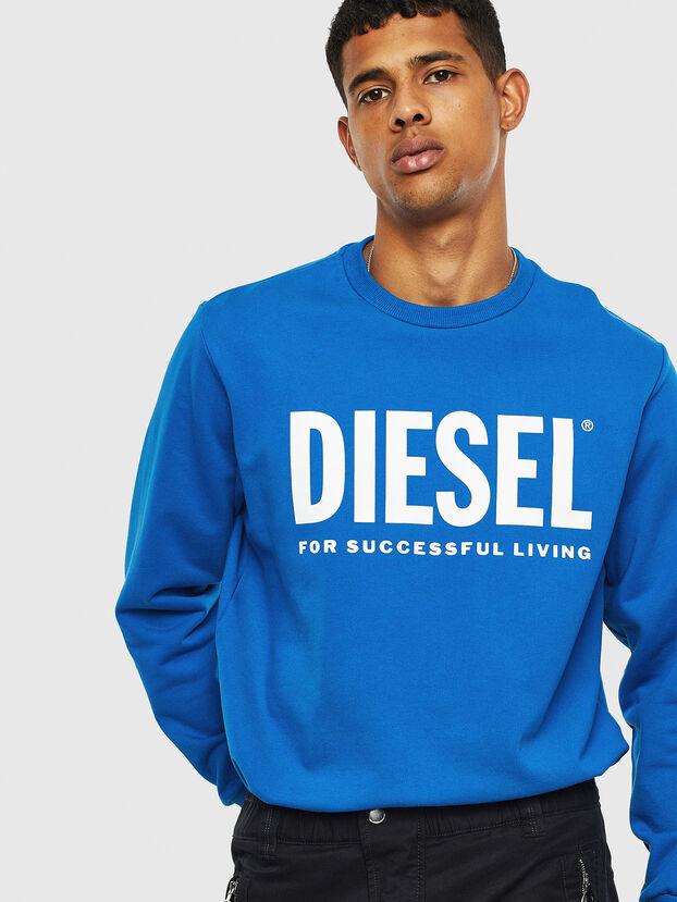 S-GIR-DIVISION-LOGO, Light Blue - Sweatshirts