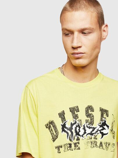 Diesel - T-JUST-B25, Jaune - T-Shirts - Image 3
