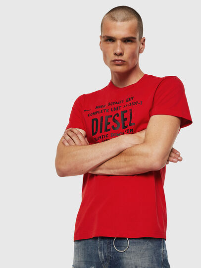 Diesel - T-DIEGO-B6, Rouge Flamme - T-Shirts - Image 1