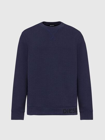 Diesel - S-PEWTER, Blue - Sweatshirts - Image 1