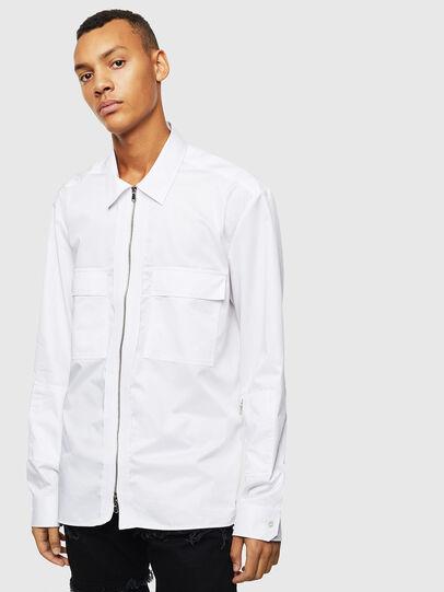 Diesel - S-PATCH-P, Blanc - Chemises - Image 1