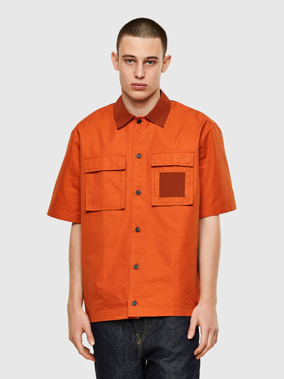 Diesel - S-GUNN, Orange - Shirts - Image 1
