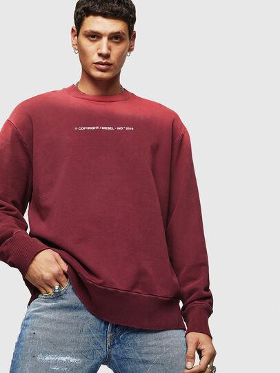 Diesel - S-BAY-SUN, Bordeaux - Sweatshirts - Image 3