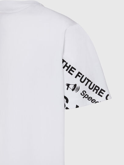 Diesel - T-JUST-FOLDED, Blanc - T-Shirts - Image 4
