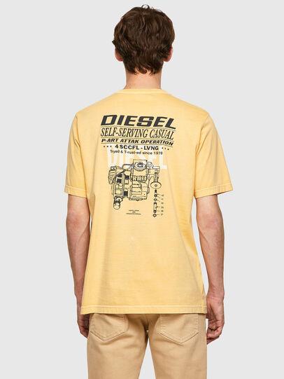 Diesel - T-JUBINDY-B1, Jaune - T-Shirts - Image 2