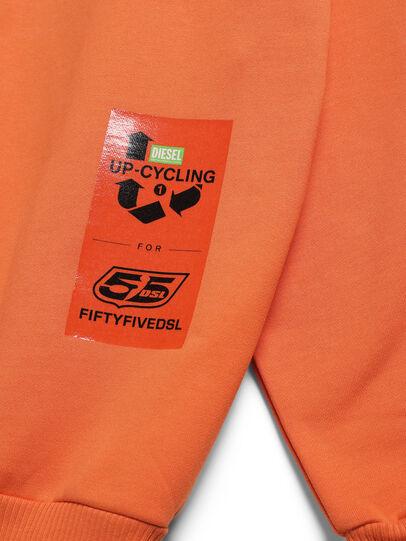 Diesel - D-BNHILL-S, Orange - Sweatshirts - Image 4