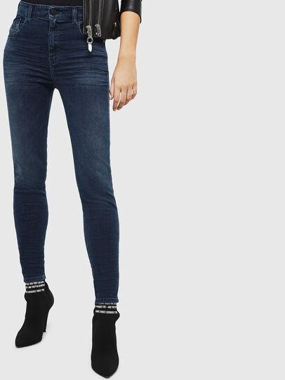 Diesel - Slandy High 084UT, Bleu Foncé - Jeans - Image 1