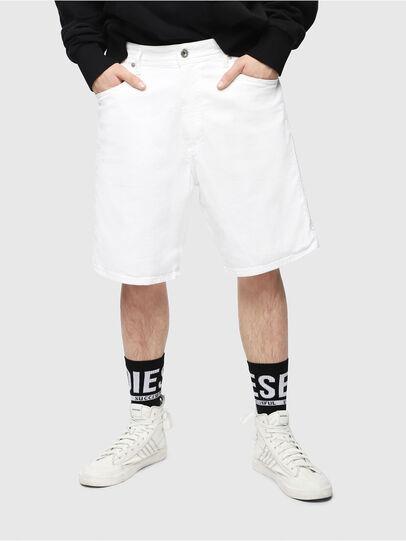 Diesel - D-WILLOH, Blanc - Shorts - Image 1