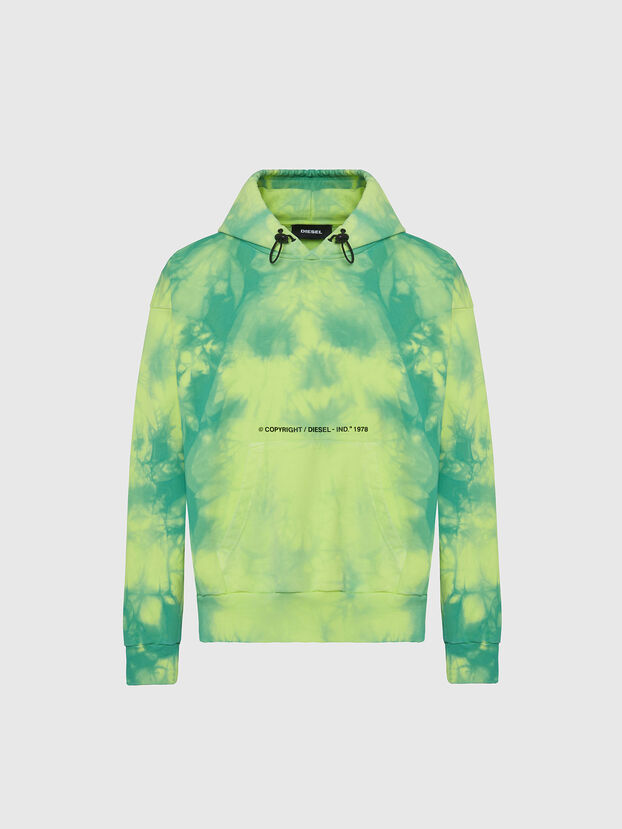 S-ALBYEL-X4, Green/Yellow - Sweatshirts