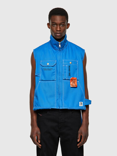 Diesel - J-HOWE, Blue - Jackets - Image 1