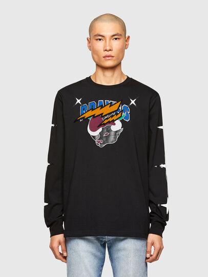 Diesel - CL-T-JUST-LS-O, Noir - T-Shirts - Image 1
